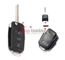 Full Set Flip Remote Key Keyless Entry Fob 315Mhz ID48 for VW Passat 2001-2005