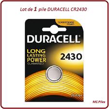 1 pila de botón CR2430 litio Duracell