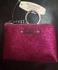 New with tags Victoria's Secret coin purse/key chain color sparkly pink