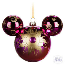 Disney Parks Mickey Mouse Icon Glass Ornament - Sunburst
