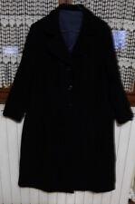 Manteau noir femme t38/40/vintage/cousu à la main