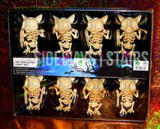 BAT SKELETON LIGHTS 8 Pc. Halloween LED Light Set creepy cute battery-powered