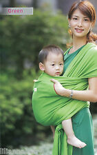 New Stretchy Cotton Baby Sling Wrap Baby Carrier, GREEN, 0-18 Months