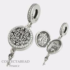 Authentic Pandora Sterling Silver Regal Love Key CZ Dangle Bead 797660CZ