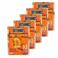 New 5 Pack Pair of HotHands Hand Warmers by Heatmax