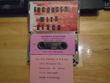 RARE PROMO Engorged With Blood DEMO CASSETTE TAPE rock UNRELEASED Romeo Void '92