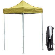 5'X5' Outdoor Pop up Canopy Gazebo Pavilion Tent Shelter White Frame W/BagYellow
