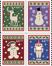 2009 44c Winter Holidays, Block of 4 Scott 4425-28 Mint F/VF NH