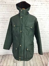 Woolrich Mens Green Hooded Parka Coat Size Large USA Made