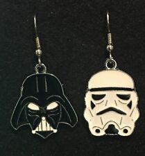 Darth Vader & Stormtrooper Star Wars Earrings Stainless Hooks New Dark Side Mix