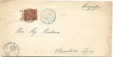 P7675   Brescia, Capenedolo, annullo numerale a sbarre 1888