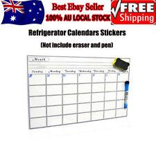 A3 Monthly Fridge Calendar Magnetic Whiteboard Family Organiser Memo Planner