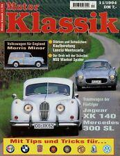 Motor Klassik 11/94 1994 Jaguar XK140 Mercedes 300SL Beta Montecarlo Minor NSU