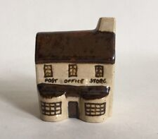 Miniature Post Office Store Brownstone Earthenware Ceramic