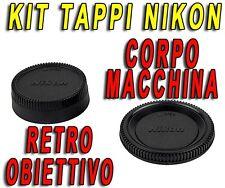 KIT TAPPO CORPO MACCHINA RETRO OBIETTIVO COMPATIBILI NIKON BF-1B LF-4 D5300 D610