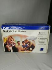 3Com OfficeConnect 56k LAN Modem 3C888. Hub 4 port expandable to 25 users .