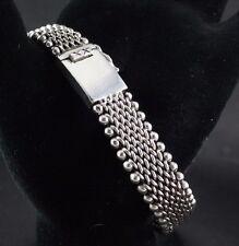 "Sterling Silver .925 Woven Bracelet 8"" 57 Grams Men's or Women's"