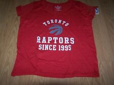 NBA Toronto Raptors Women's Curvy Multicount Short Sleeve V- Neck Red Tee Sz 2X