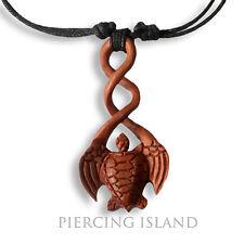 Halskette Anhänger Maori Twister Twist Schildkröte Turtle Holz Amulett N245