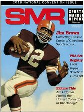 SMR Sports Market Report PSA/DNA Guide Magazine #289 Jim Brown AUGUST 2018
