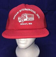 SBK Vtg Mesabi Bituminous Mn Red Full Foam SnapBack Trucker Hat