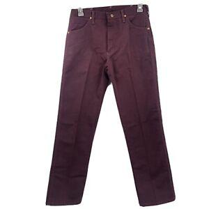 Vintage Nwt's Wrangler Maroon Purple Jeans Cowboy Cut 33X32