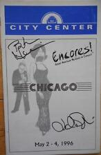 Bebe Neuwirth & Judith Daykin Signed Playbill Chicago  City Center Encores! 1996