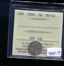 1904 Canada 5 Cents ICCS Certified MS62 DC483