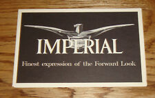 Original 1957 Chrysler Imperial Full Line Foldout Sales Brochure 57 Lebaron