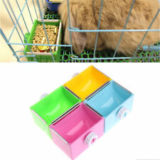 Pet Bowl Water Food Bowls Dutch Pig Rabbit Hanging Feeding Bowl Cage Accessories