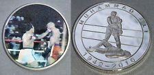 Muhammad Ali Silver 3D Coin Rumble in the Jungle Cassius Clay Boxing Zaire Retro