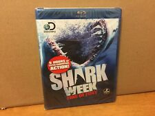 Shark Week: Fins of Fury (Blu-ray Disc, 2013, 2-Disc Set! 5 HOURS ACTION! NEW!