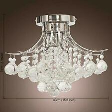 Modern LED Ceiling Light Crystal Living Room Chandelier Flush Mount Lamp Fixture