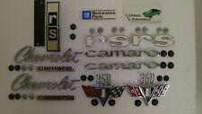 Emblem Kit 46pc w/ fasteners 67 Camaro RS 350 Rally Sport V-Flag emblems