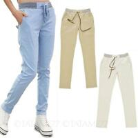 Womens summer Trousers Chinos Casual Ladies Cotton Slacks long Pants Size VANCY