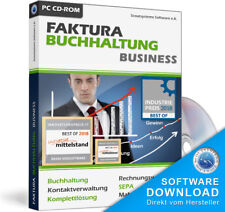 Faktura Software Business Rechnungsprogramm + Buchhaltung für Unternehmer,Firmen