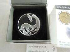 2010 BIBLICAL ART JONAH IN BELLY WHALE COIN OF THE YEAR 2012 SILVER PROOF 2 NIS