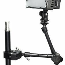 "11"" Inch Articulating Magic Arm + Clamp for LCD Monitor LED Light & Tripod"