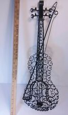 "Vintage  27"" Hand Made  Iron Sculpture Decor Music Theme Wall Decor"