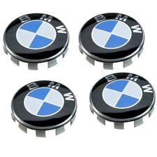 BMW WHEEL CAPS x4 Bleu Design Blanc Vendeur Britannique E63 Série 6 Modèles 68 mm