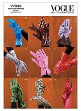 V7949 Vogue Sewing Pattern 9 Pair Gloves Special Occasion CostumeFall Patron