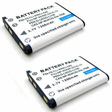 2x 3.7v 1200mAh Li-ion Battery for Rollei RCP-7325XS X-8 Sports XS-10 XS-8 New