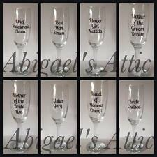 PERSONALISED VINYL DECALS STICKERS FOR GLASS - WEDDING PARTY - ROLE AND NAME