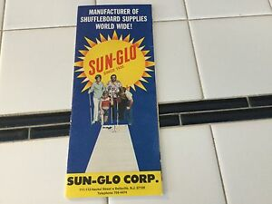 Vintage 1970's Sun-glo Shuffleboard Supply advertising pamphlet