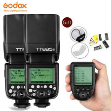 Godox 2*  TT685N 2.4G HSS I-TTL Wireless Flash + Xpro-N TTL Trigger for Nikon