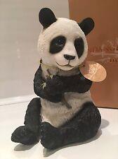 Panda With Bamboo Ornament Figurine Figure Gift Present