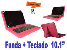 """FUNDA CON TECLADO TABLET SAMSUNG TAB E 9.6"""" TECLADO EXTRAIBLE ROSA"""
