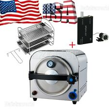 UPS DentalAutoclave Steam Sterilizer Medical Sterilization Lab Equipment 14L FDA