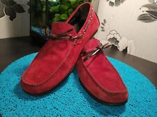 Authentic Tom Ford Red Loafer Moccasin US Size 9.5