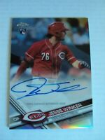 2017 Topps Chrome Jesse Winker ON CARD AUTO Rookie Refractor Serial #'d 159/499
